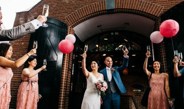 Stijlvolle bruiloft