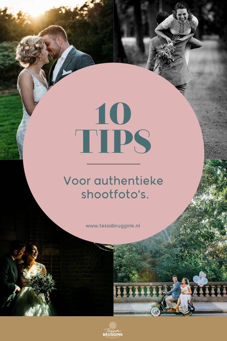 10 Tips voor authentieke shootfoto's op jullie bruiloft