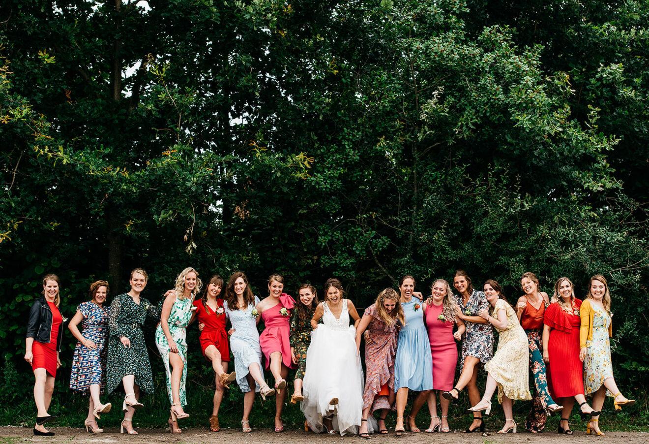 Spontane groepsfoto