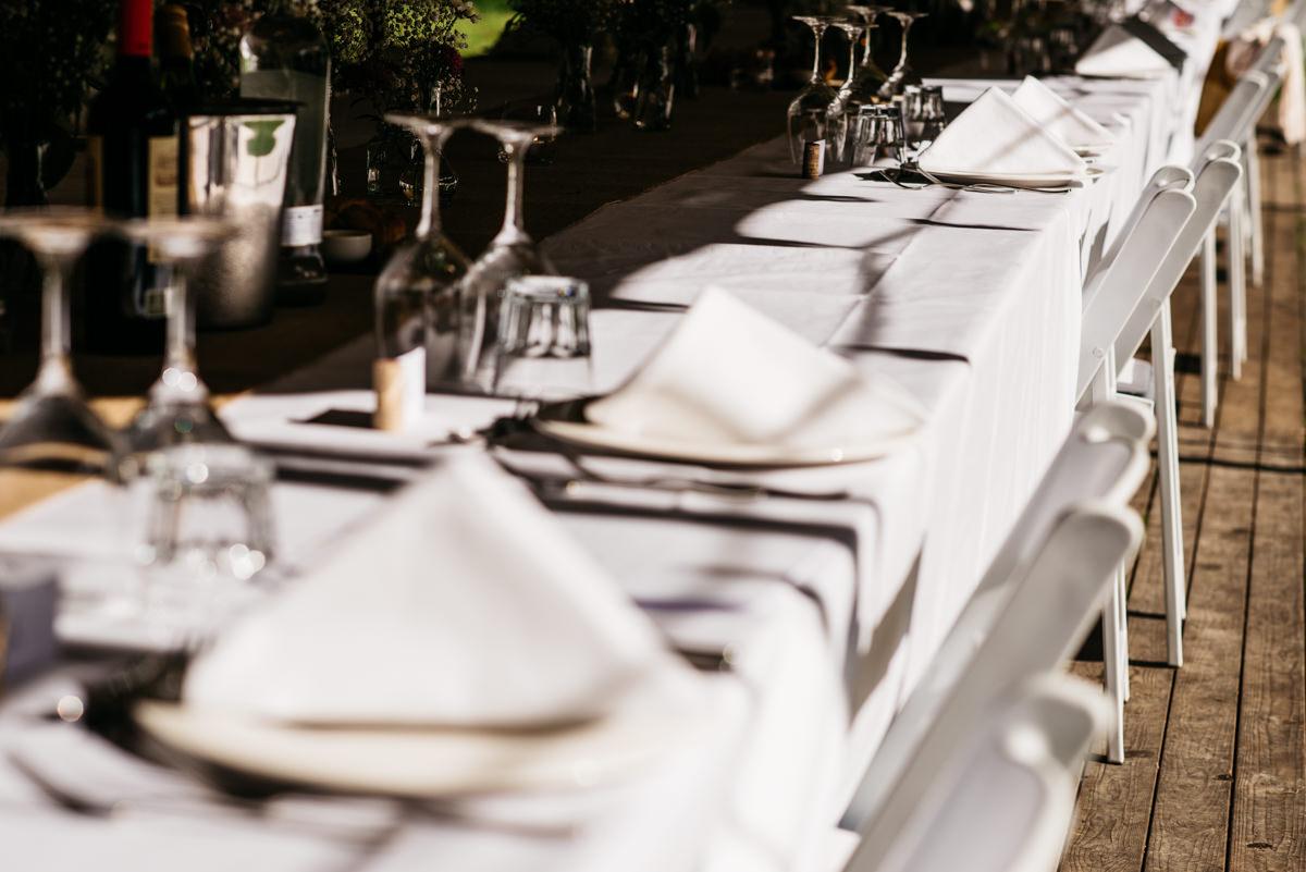 Diner corona bruiloft